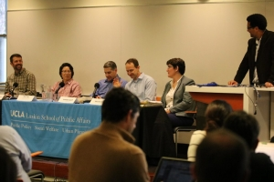 UCLA Luskin hosted a panel discussion on Feb. 9, 2017, to discuss the pros and cons of Measure S, a ballot measure to limit local development.
