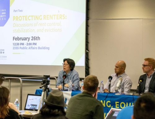 Housing, Equity, and Community Series: Discussions of rent control, stabilization, and evictions